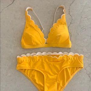NEW Kate Spade Yellow Scalloped Bikini Set